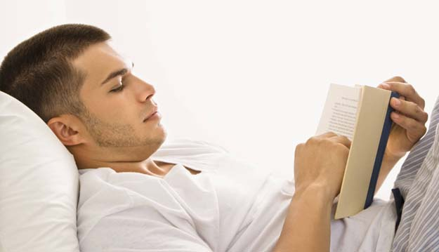 reading a book night